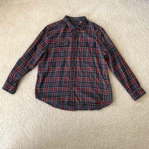 Woolrich Flannel Red Button Down Shirt Size XXL